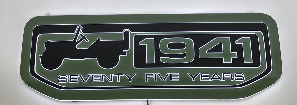 Jeep 1941 Seventy Five Years Artlite Led Sign