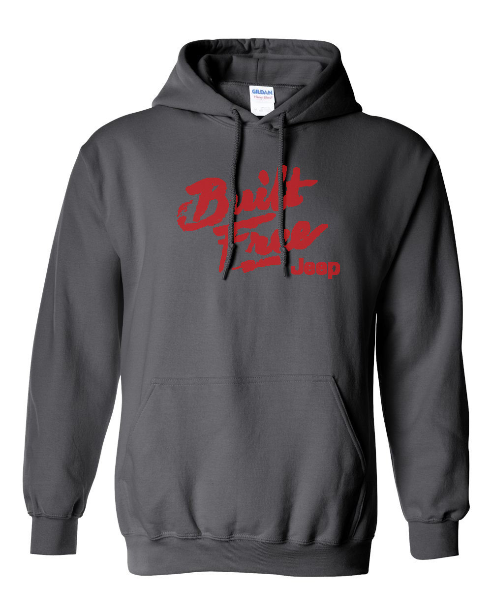 Jeep Built Free Charcoal Hoodie