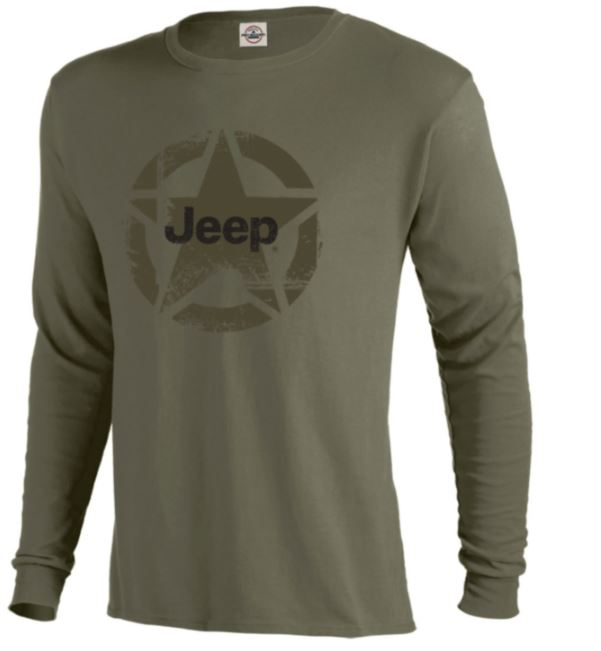 Jeep Distressed Star Long-Sleeve T-Shirt