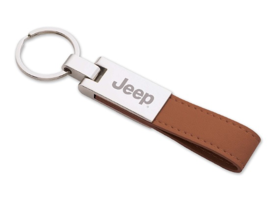 Jeep Faux Leather Strap Key Ring