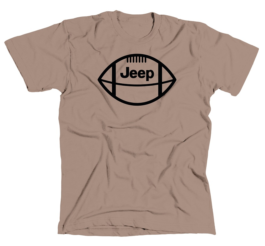 Jeep Football Brown T-Shirt