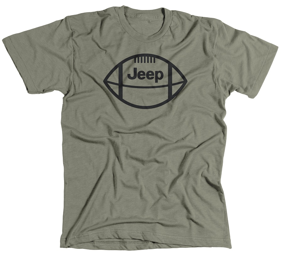 Jeep Football Military Green T-Shirt