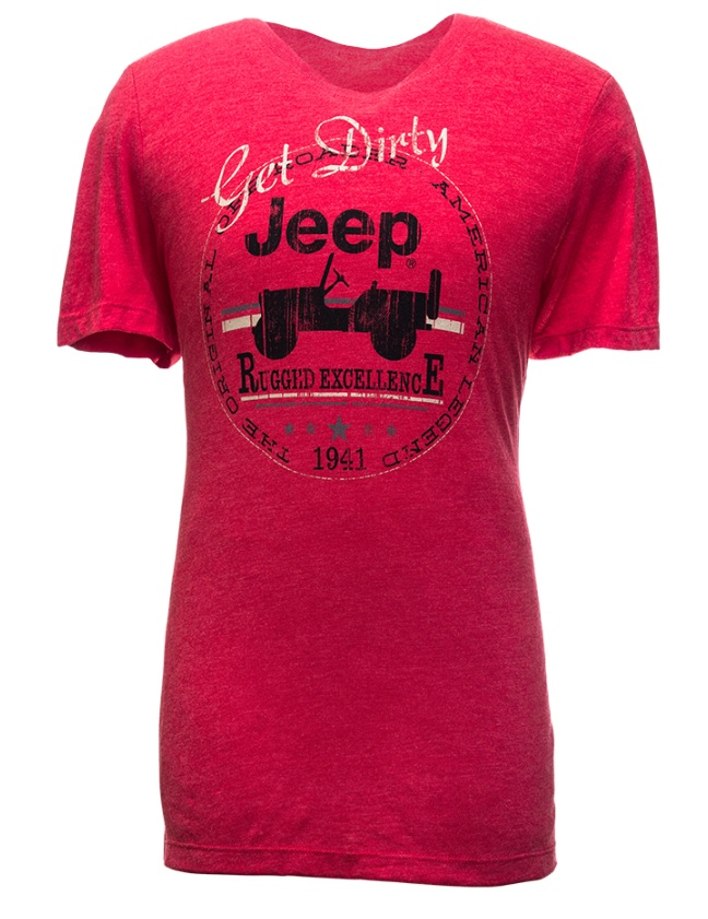 Jeep Get Dirty Tri-Blend Ladies T-Shirt