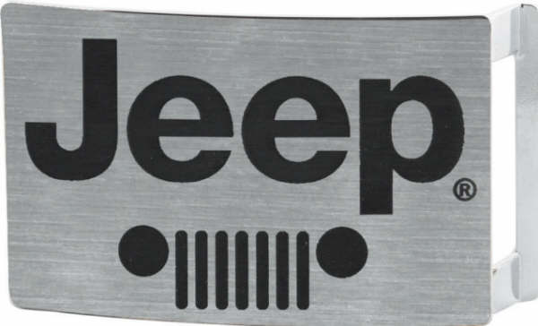 Jeep Grill Brushed Silver Belt Buckle