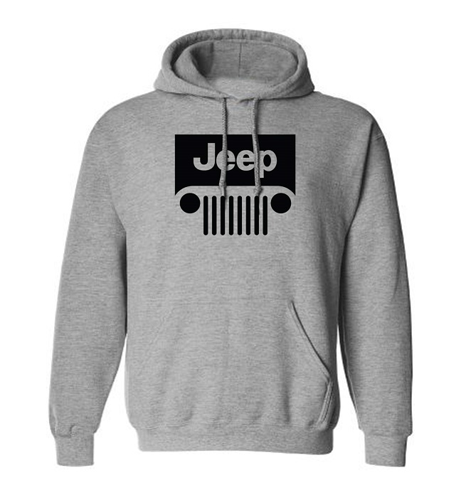 Jeep Grill Gray Hoodie