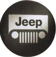 Jeep Grill Logo Spare Tire Cover