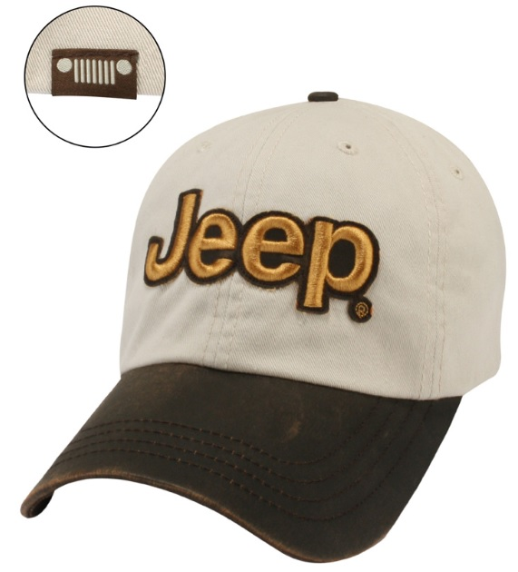 Jeep Leather Visor Cap