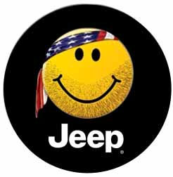 Jeep Smiley Face Spare Tire Cover