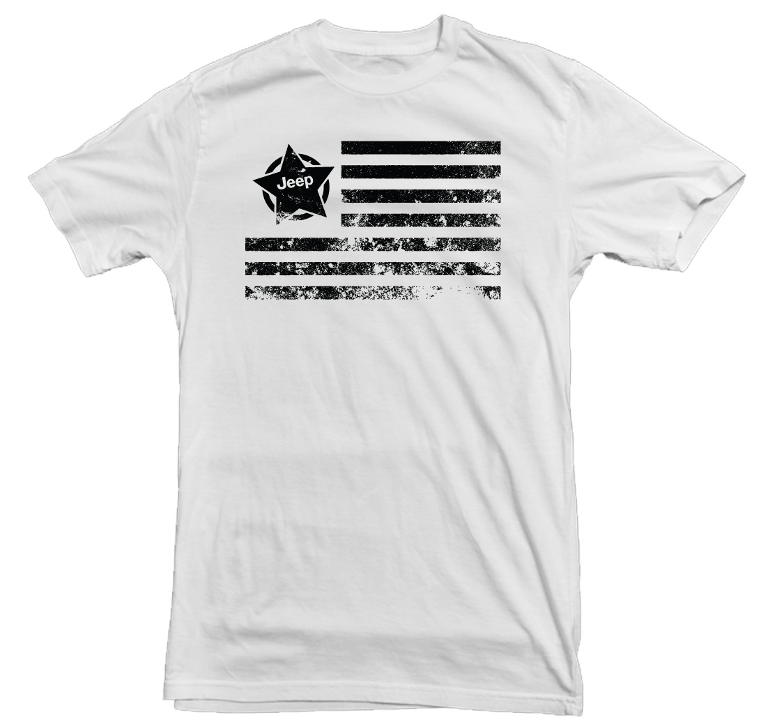 Jeep Star Flag White T-Shirt