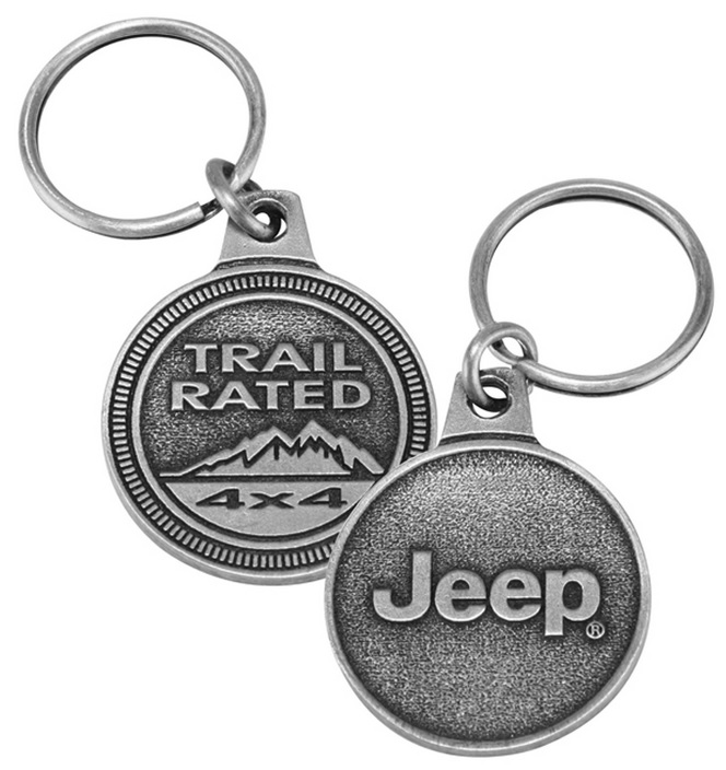 Jeep Trail Rated Badge Key Chain