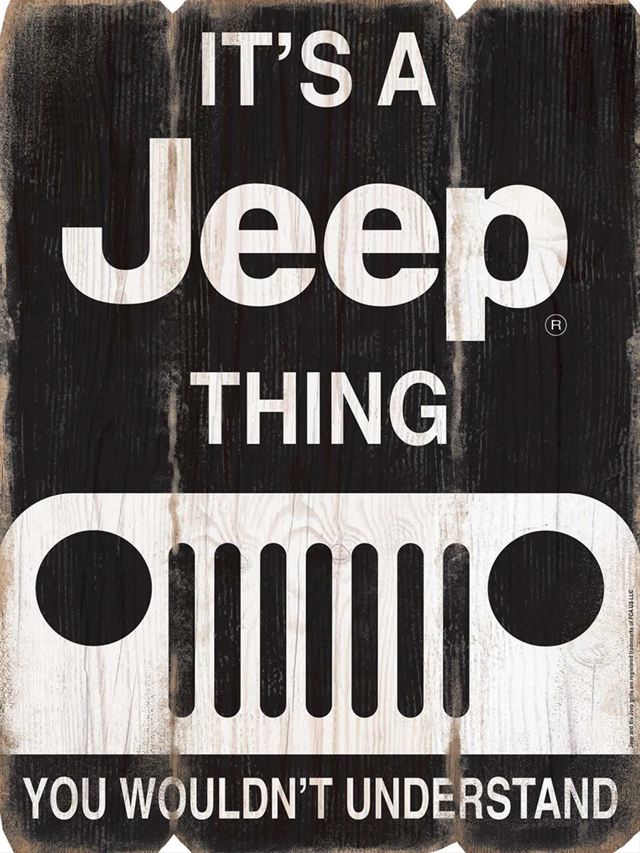 Jeep Wood Plank Sign