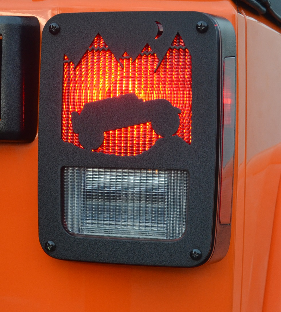 Jeep Wrangler Mountain Taillight Guards