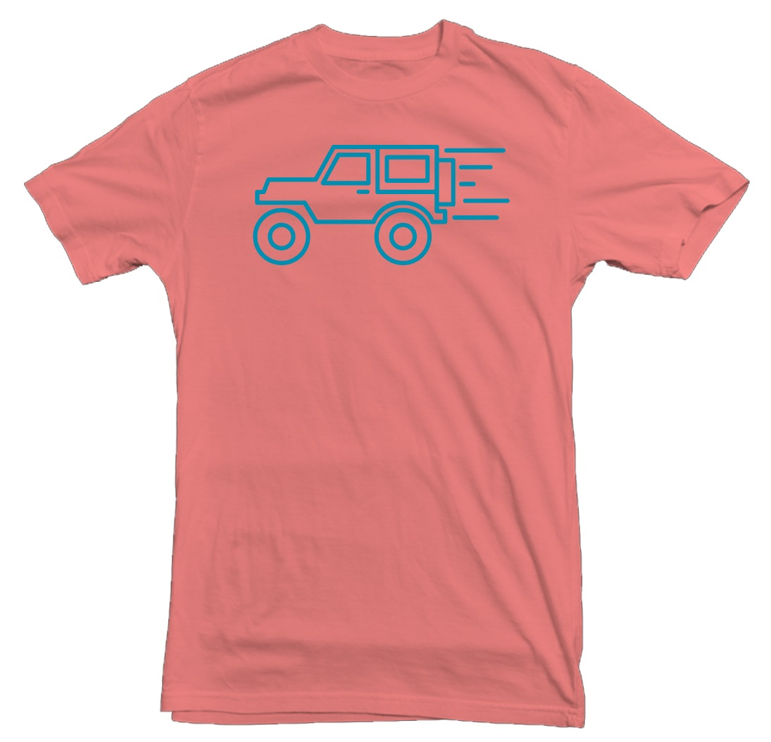 Jeep Wrangler Zoom Coral T-Shirt