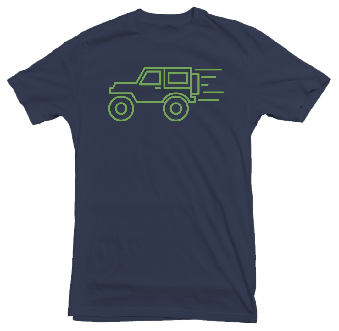 Jeep Wrangler Zoom Navy T-Shirt