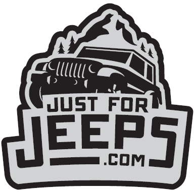 JustForJeeps.com Black Decal