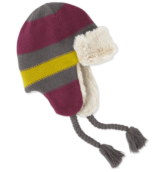 Life is Good Striped Trapper Winter Hat