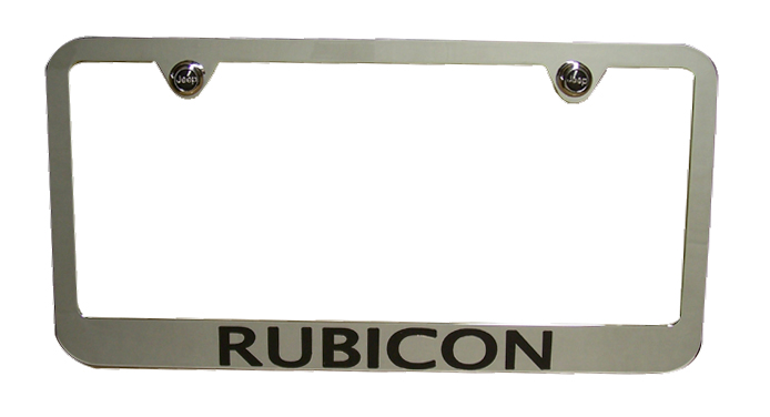 Rubicon Chrome License Plate Frame