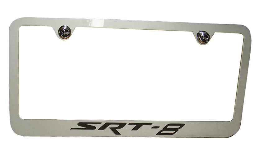 SRT8 Chrome License Plate Frame