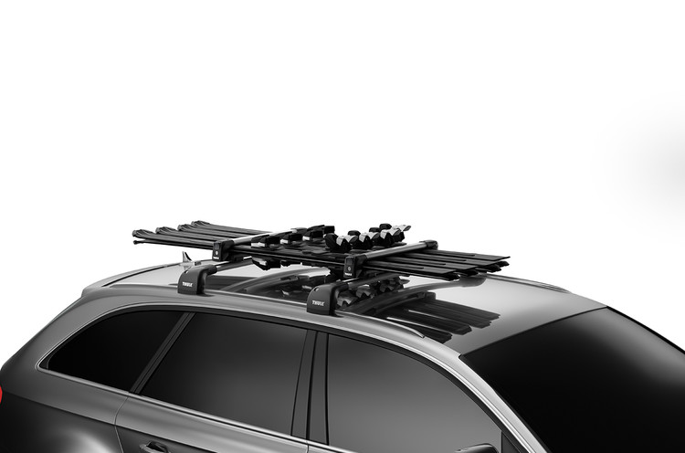 Thule 7326 SnowPack Roof-Mount Ski & Snowboard Carrier