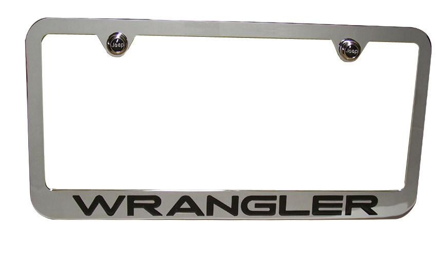Wrangler Chrome License Plate Frame