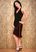 Short Flamenco Halter Dress