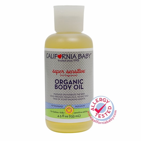 4.5oz Super Sensitive Organic Body Oil