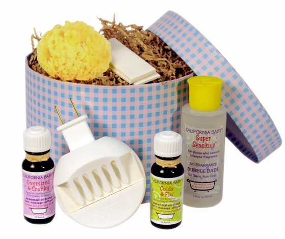 California Baby Diffuser & Essential Oils Gift Basket