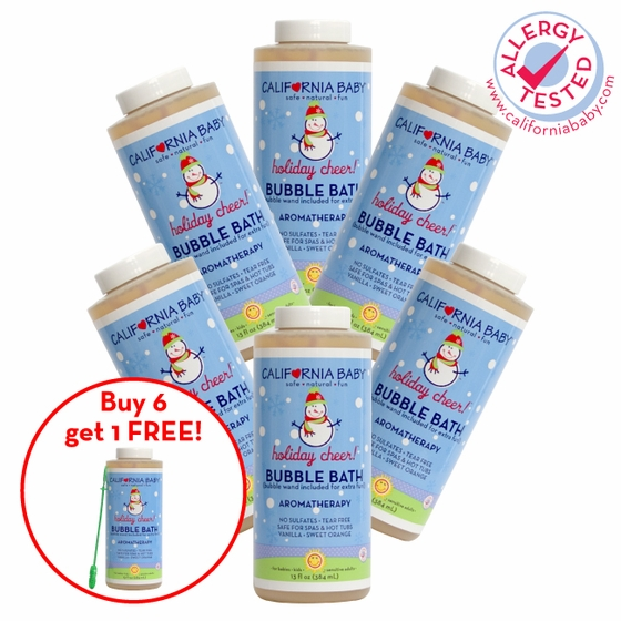 California Baby Holiday Cheer Bubble Bath Special (pack of 7)