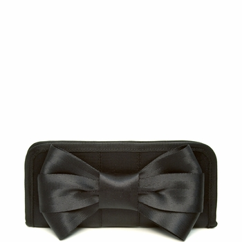 Bow Clutch Wallet Black