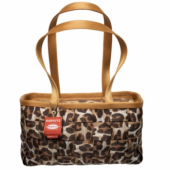 Large Satchel Snow Leopard