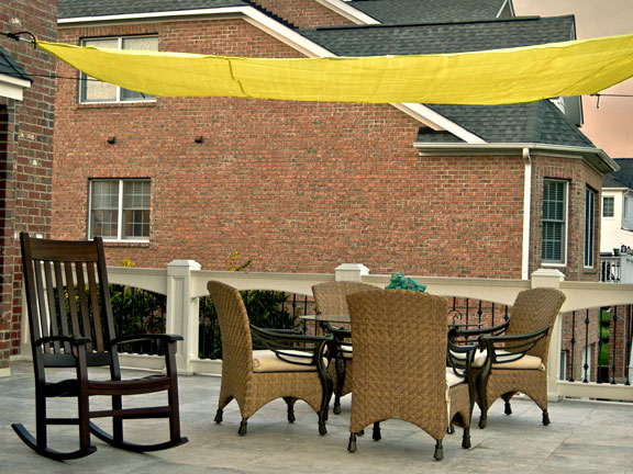 10 Foot Quadrilateral Sun Shade Sail Canopy With Hardware