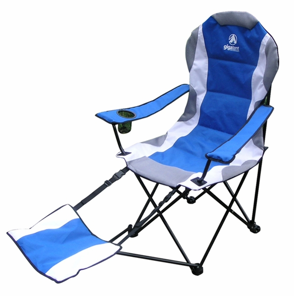 Aluminum Camping Chair with Adjustable Foot Rest