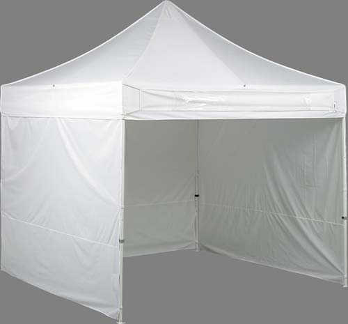 E Z Up 10 X 10 Canopy Package With Name Banner 4 Sidewalls