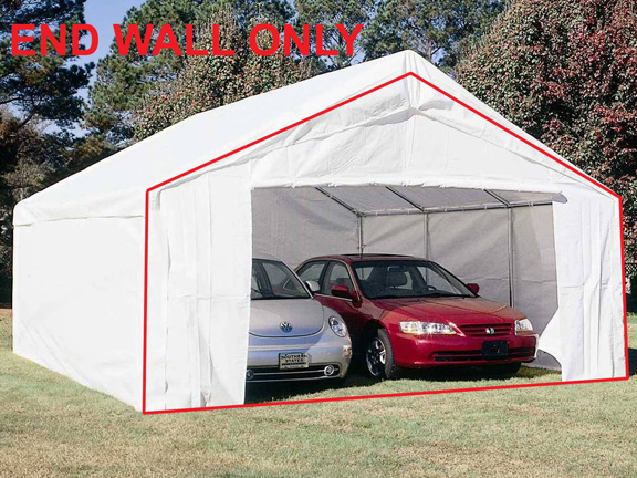 King Canopy White Endwall With Zipper For Flap For