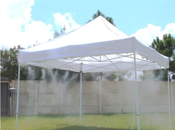 Mistcooling 10 X 10 Mid Pressure Misting Tent Complete