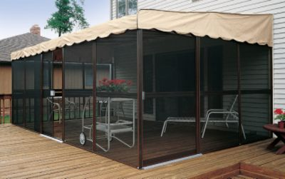Patio Mate Screened Enclosure Chestnut Almond Color