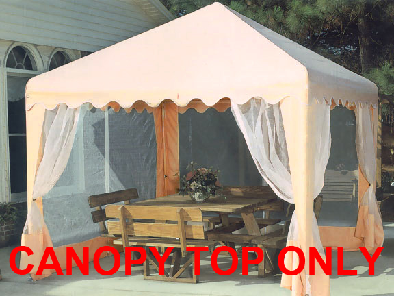 Replacement Top With Screens For 10x10 Garden Party Canopy