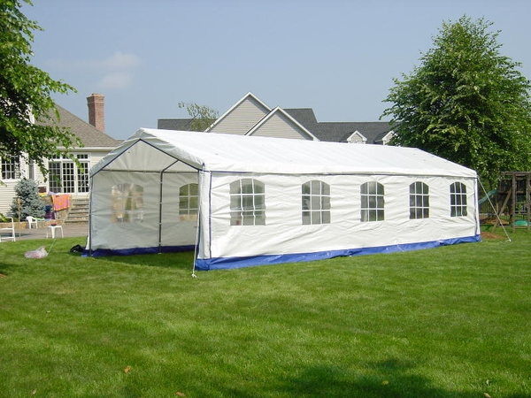 Party Tent In Backyard :  Tents > Rhino Shelter Decorative Backyard Party Tent with Side Walls