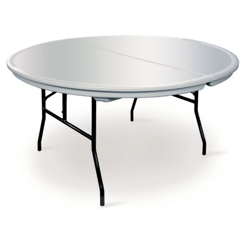 Plastic Folding Table : ... Canopies > Round Commercialite Plastic Folding Table - 60 Inch