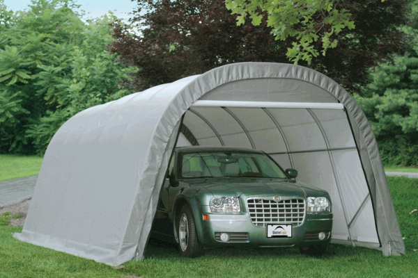 Shelterlogic 12 X 20 X 8 Round Portable Garage Canopy
