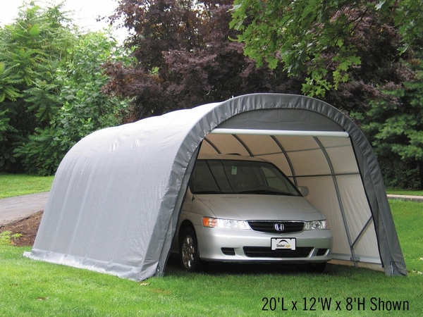 Shelterlogic 12 X 24 X 8 Round Portable Garage Canopy 72332