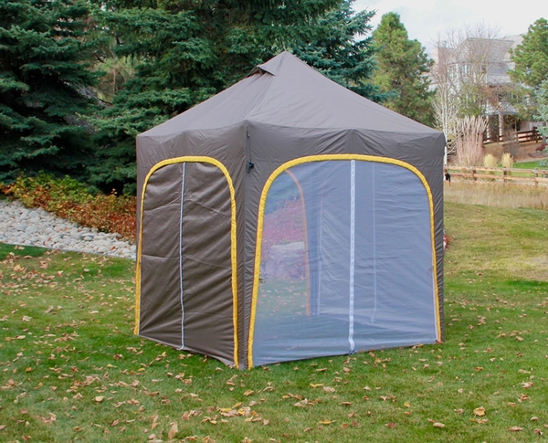 Undercover Apex Base Camp Tent With Two Sleeping Rooms Up