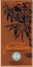 65% Plantations Dark Chocolate Arriba Bar. 100% Arriba Cocoa, Rainforest Alliance Certified, Sustainable Cocoa Program. 100g/3.5oz. (Single)