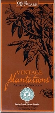 90% Plantations Dark Chocolate Bar. 100% Finca Tronca, Rainforest Alliance Certified, Sustainable Cocoa Program. 100g/3.5oz
