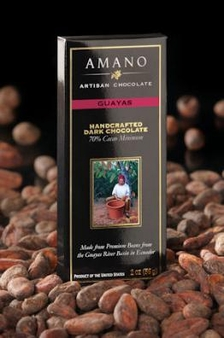 Amano Guayas 70% Cocoa, Dark Chocolate Bar, 2oz / 56g (Single)