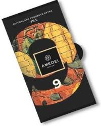 Amedei 9 Blend Dark Chocolate Bar, 75% Cocoa, 50g/1.75oz (6 Pack)