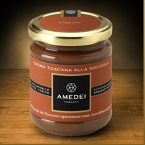 Amedei Crema Toscana alla Nocciola Milk Gianduja Spread, 200g/7.0oz (Single)