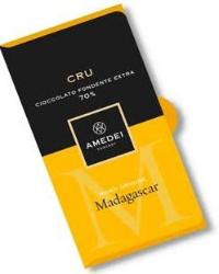 Amedei Cru Madagascar Extra Dark Chocolate Bar, Single Origin, 70% Cocoa, 50g/1.75oz (6 Pack)