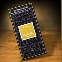 Amedei I Cru, Single Origin, Box of 12 Napolitains of Dark Chocolate, 70% Cocoa, 55g/1.92oz. (Single)
