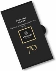 Amedei Toscano Black 70% Extra Dark Chocolate Bar, 50g/1.75oz (Single)